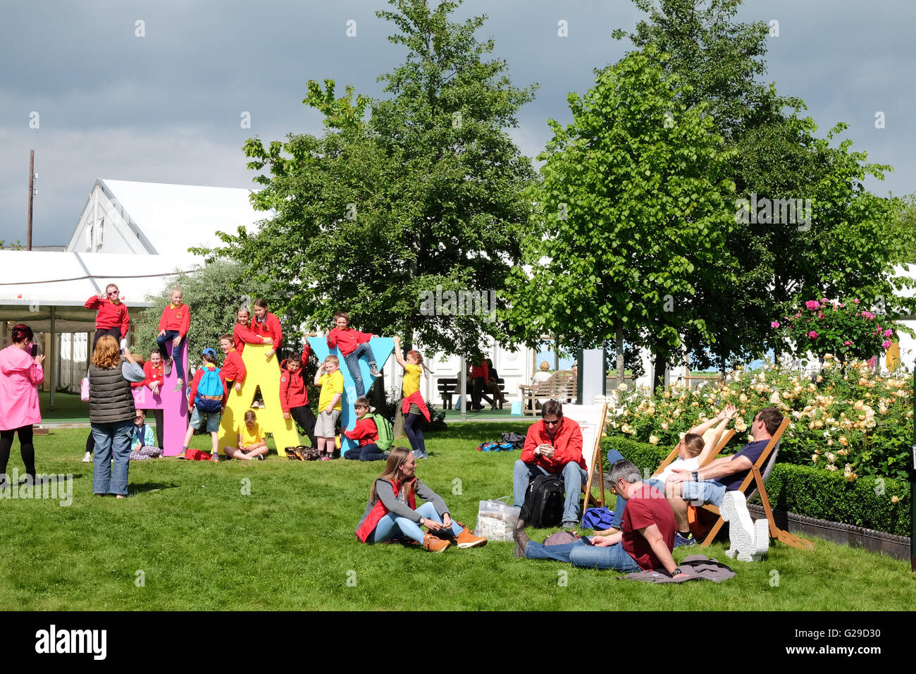 Hay Festival, Hay on Wye, Wales, UK  May, 2016. Opening day for this years literary and arts festival which runs - Stock Image