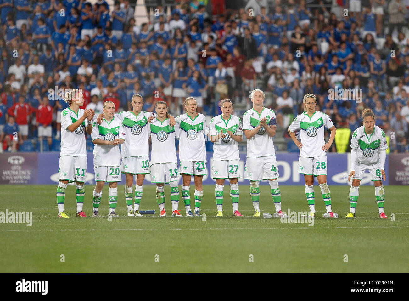26.05.2016. Stadio Citta del Tricolore, Reggio, Italy. UEFA Womens Champions League Final. Wolfsburg versus Lyon. - Stock Image