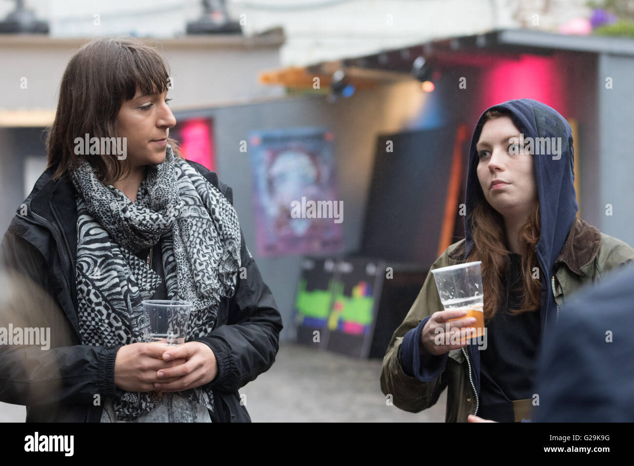 Edinburgh, Scotland. 26th May, 2016. Preview Night organisers talking/giving a tour at Hidden Doo Credit:  Tracey - Stock Image