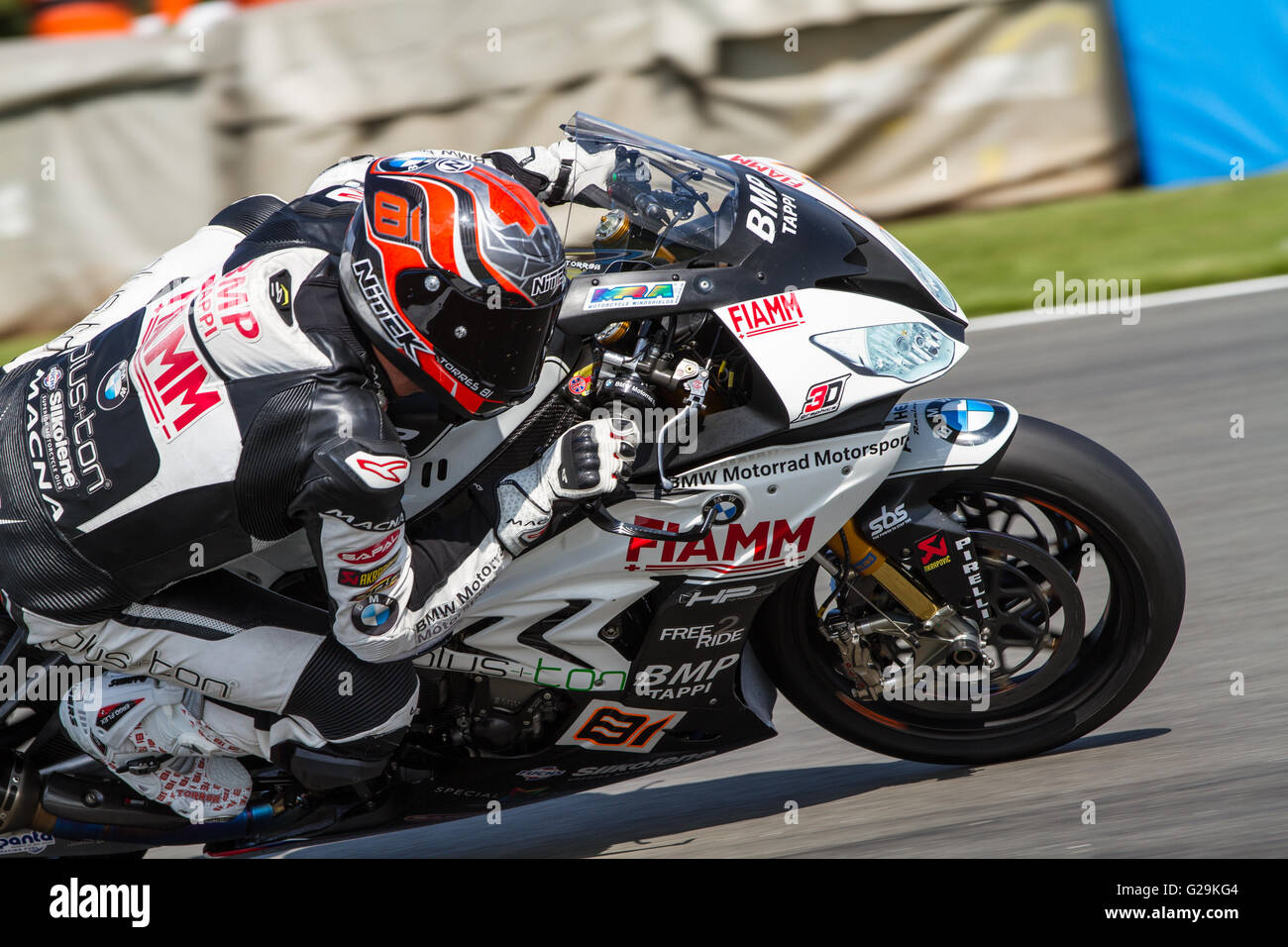 Donington Park, UK. 27th May, 2016. World Superbikes Acerbis UK Round 7 at Donington Park. #81 Jordi Torres -  Team Stock Photo