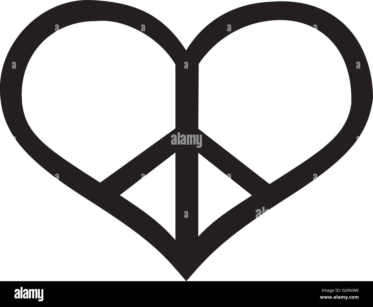 Peace Sign Text Symbol
