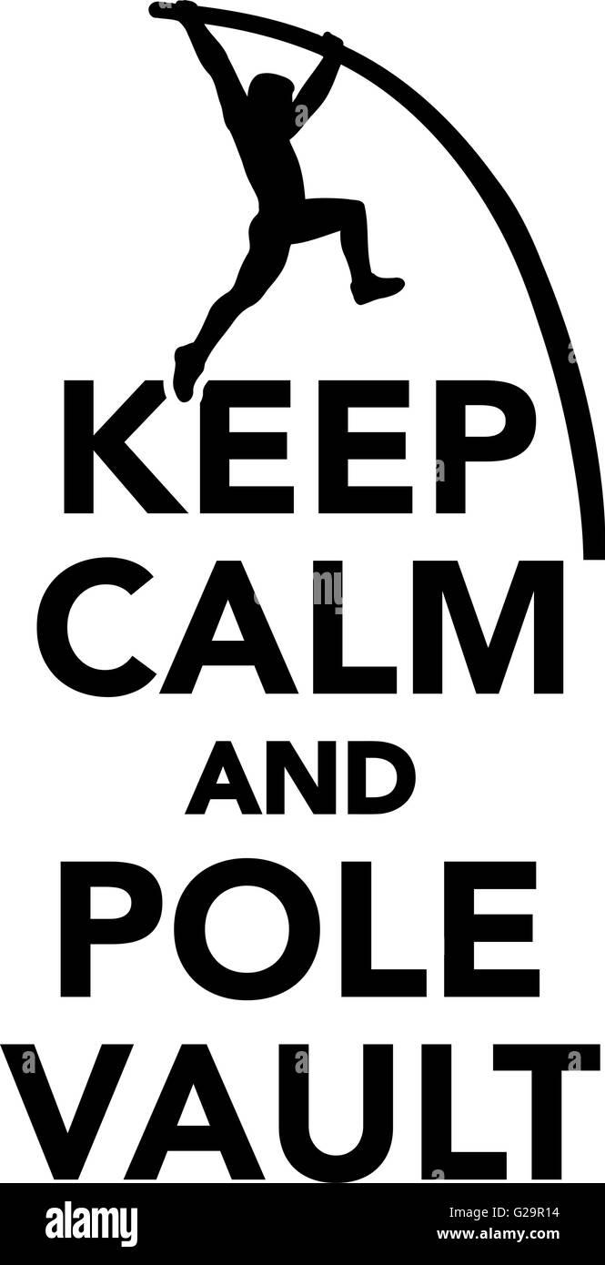 Keep calm and Pole vault - Stock Vector