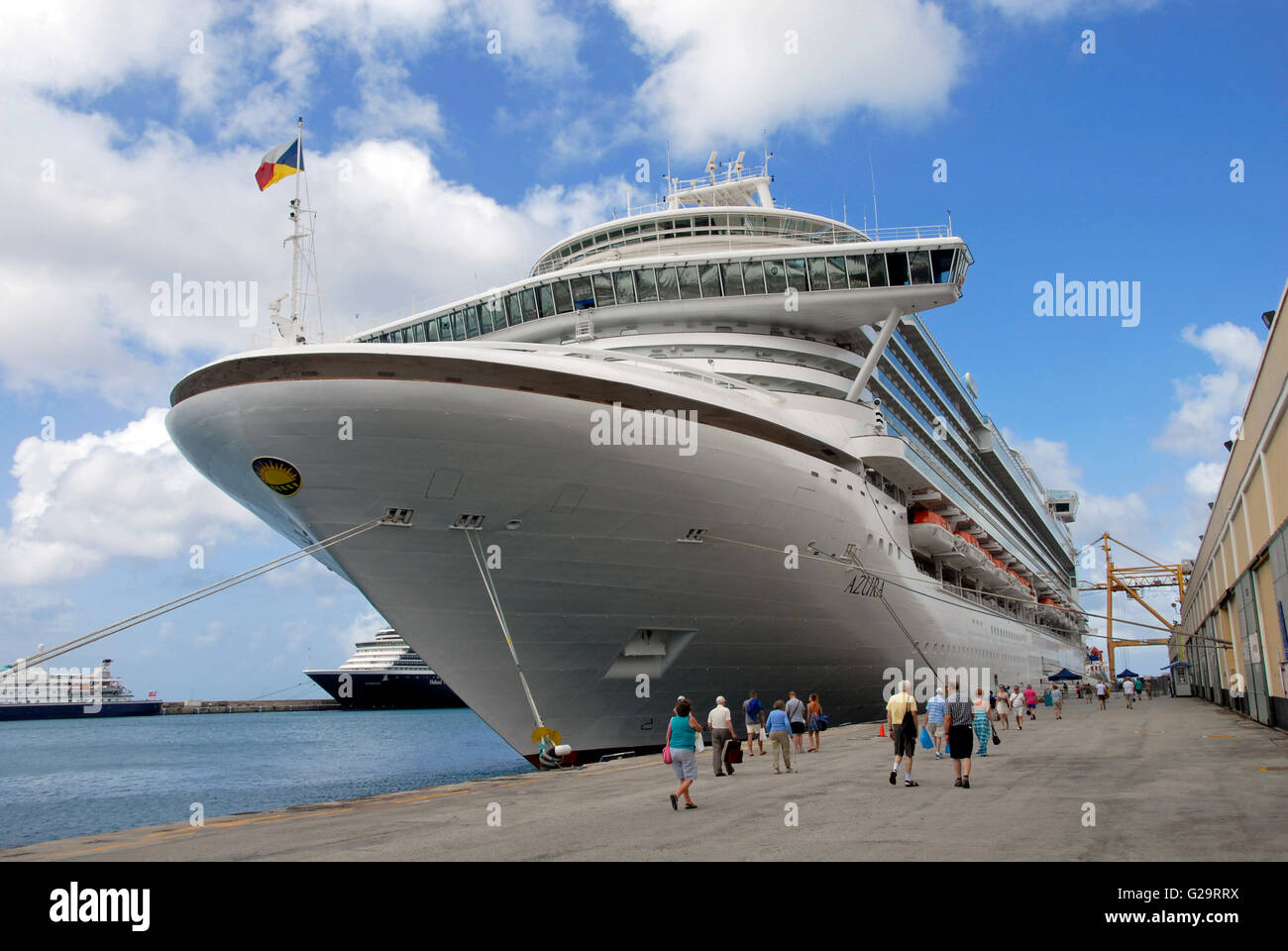 Cruise liners, Bridgetown, Barbados - Stock Image