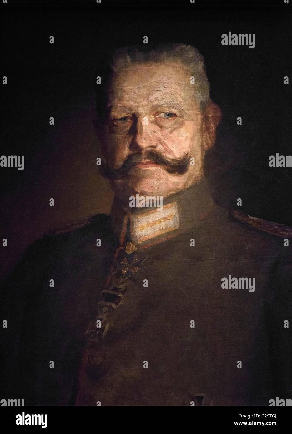 Walter Petersen (1862-1950), Portrait of Field Marshal Paul von Hindenburg (1847-1934), Germany 1916. - Stock Image