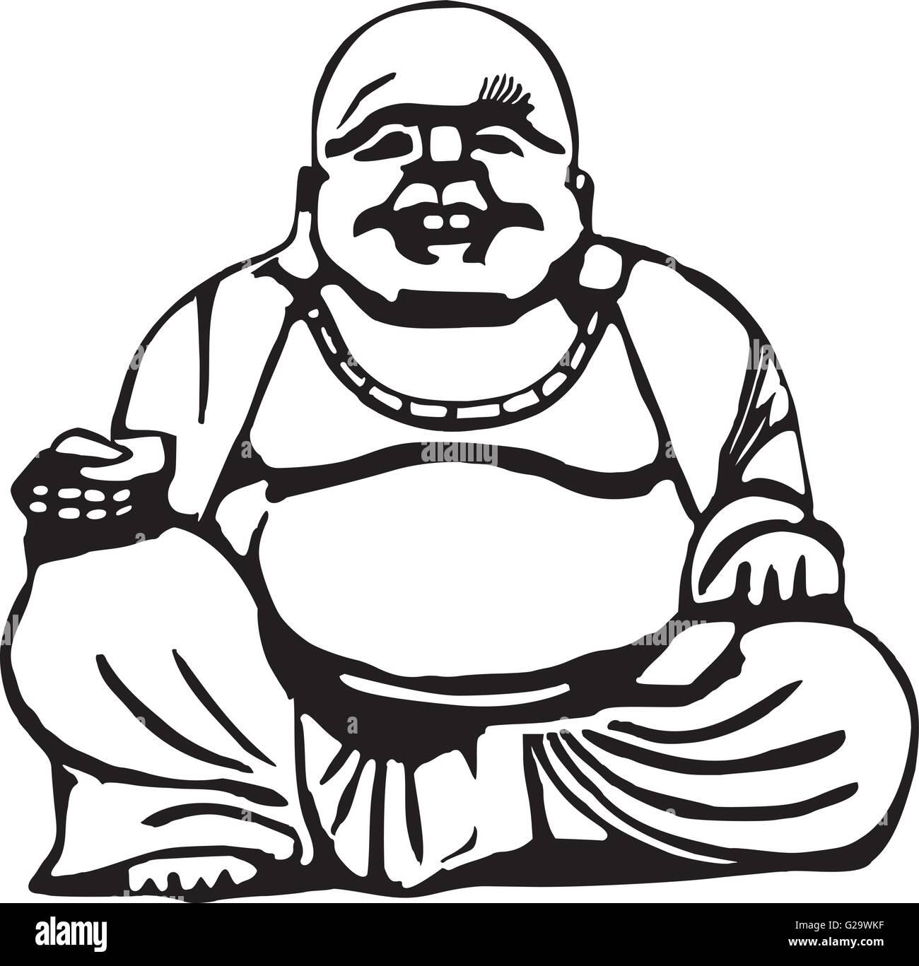 Happy Buddha Stock Vector Images - Alamy