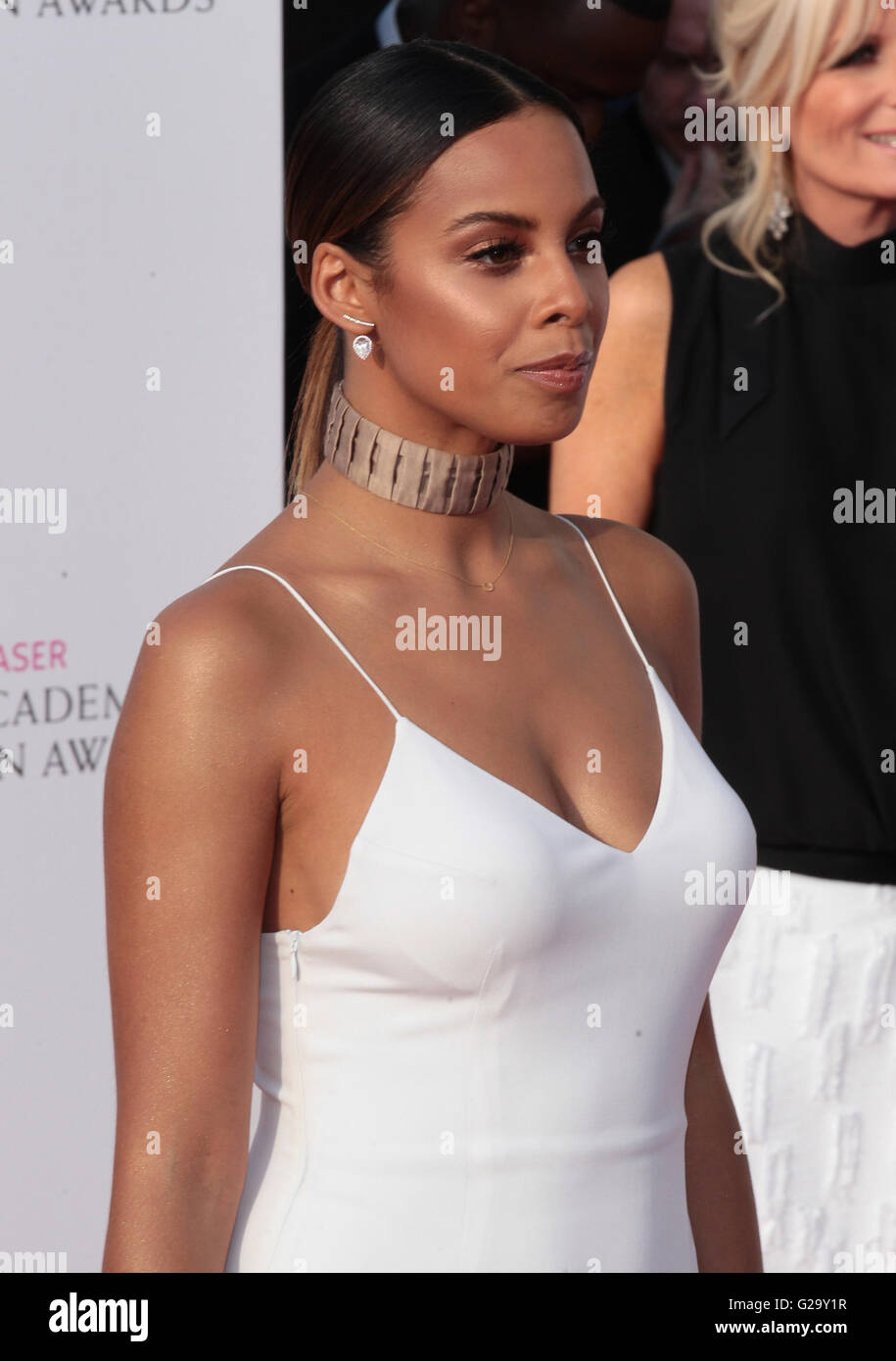 LONDON - MAY 8, 2016:  Rochelle Humes arrives for the House Of Fraser British Academy Television Awards at the Royal - Stock Image