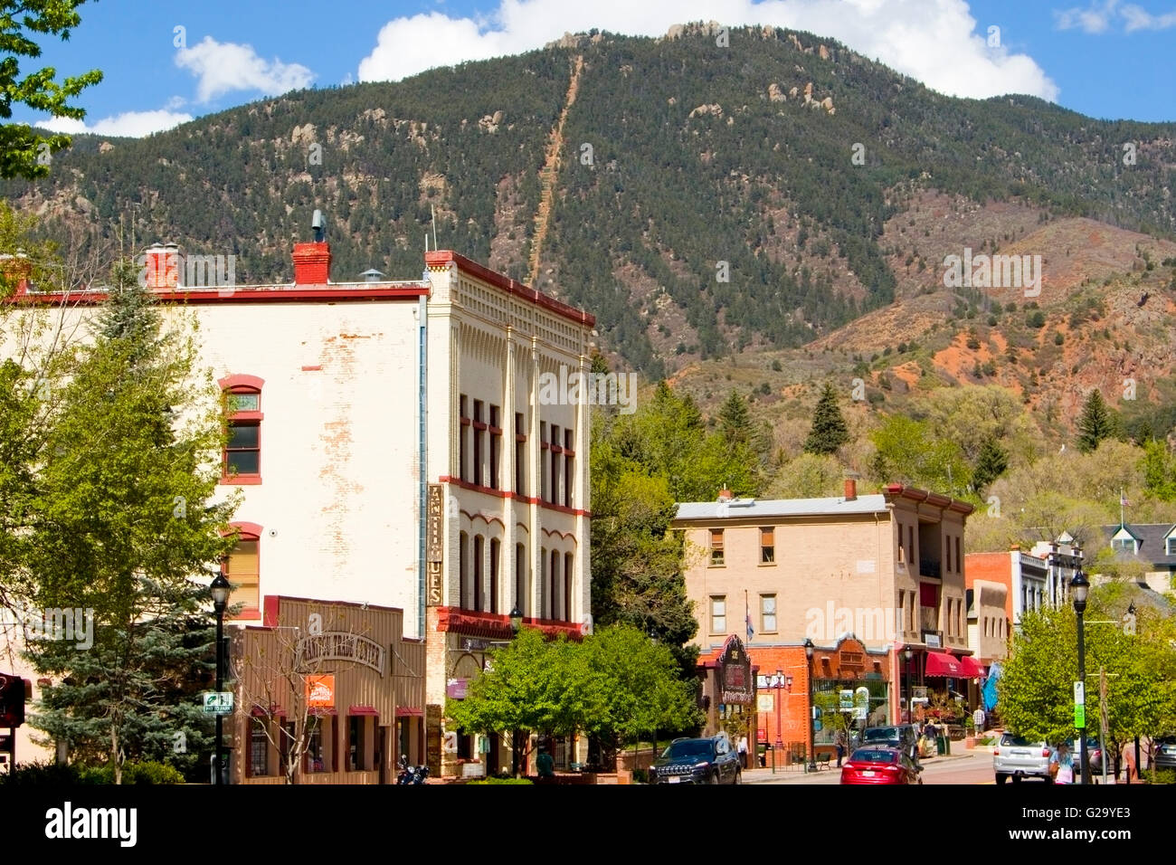 Manitou Avenue and the Incline - Stock Image