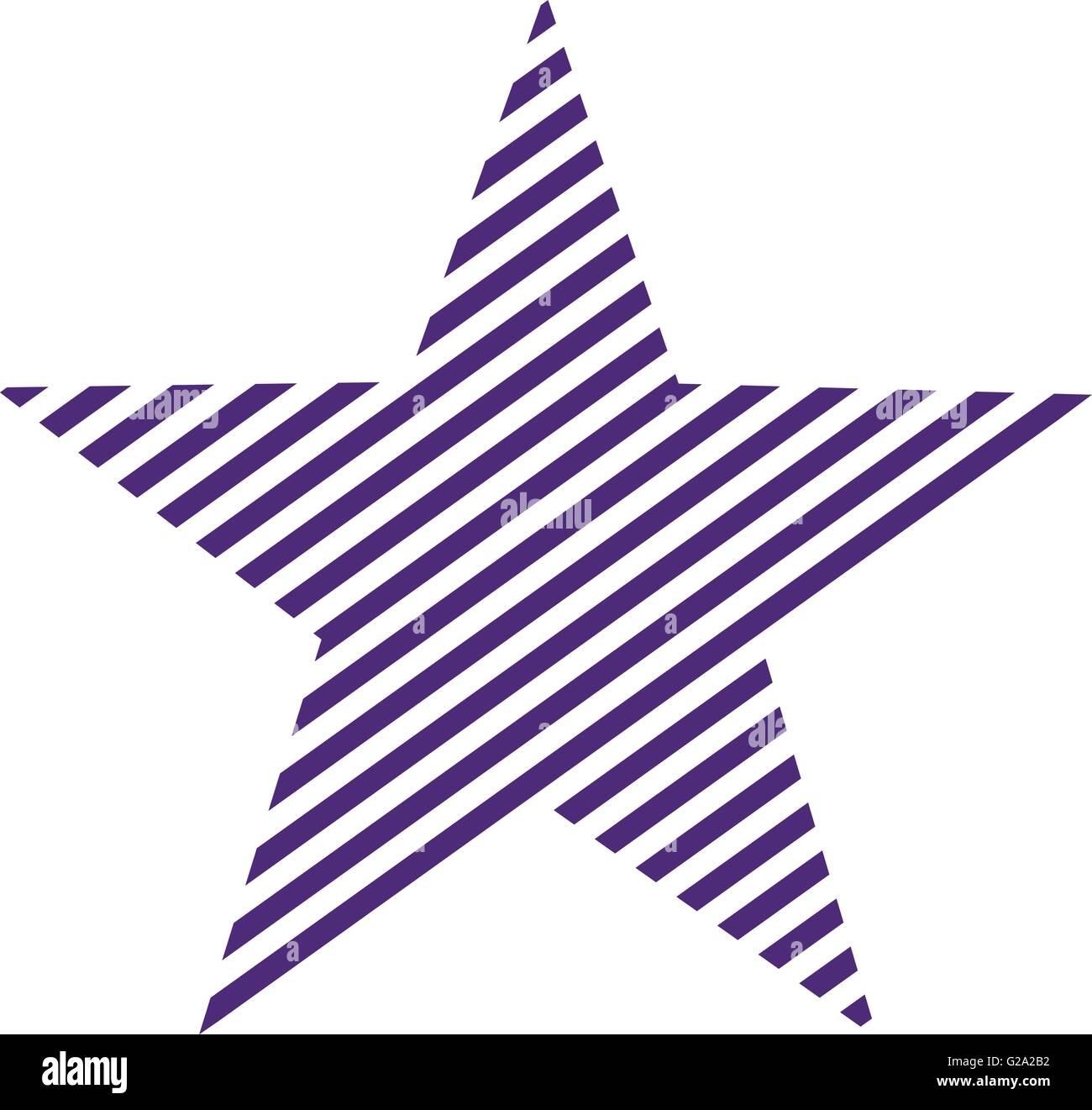 Lila striped star - Stock Image