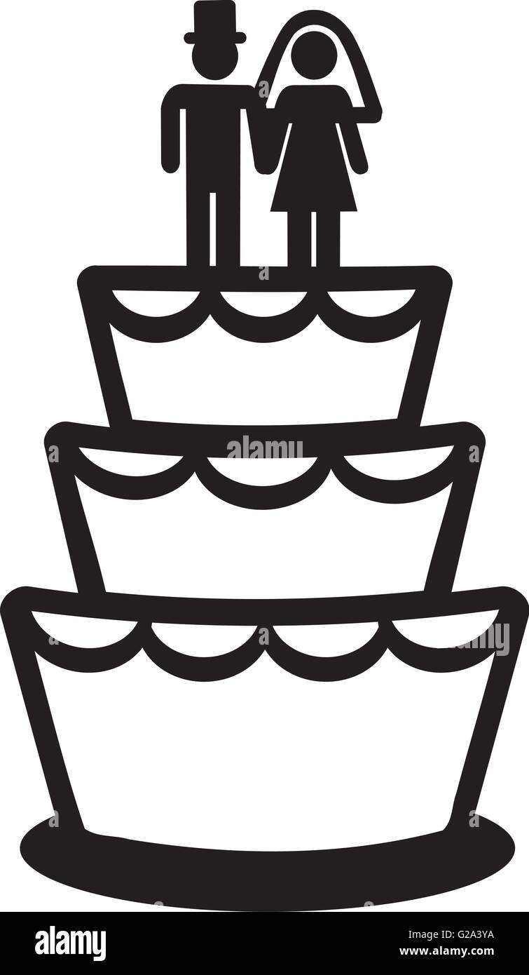 what does a wedding cake symbolizes wedding cake icon stock vector amp illustration vector 27041