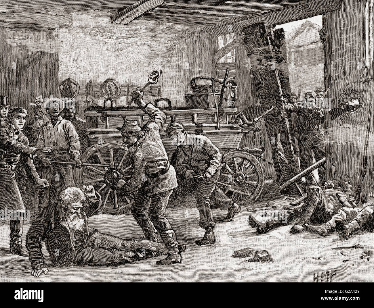 The arrest of John Brown in 1859 at Harpers Ferry, Jefferson County, West Virginia, United States of America.  John - Stock Image