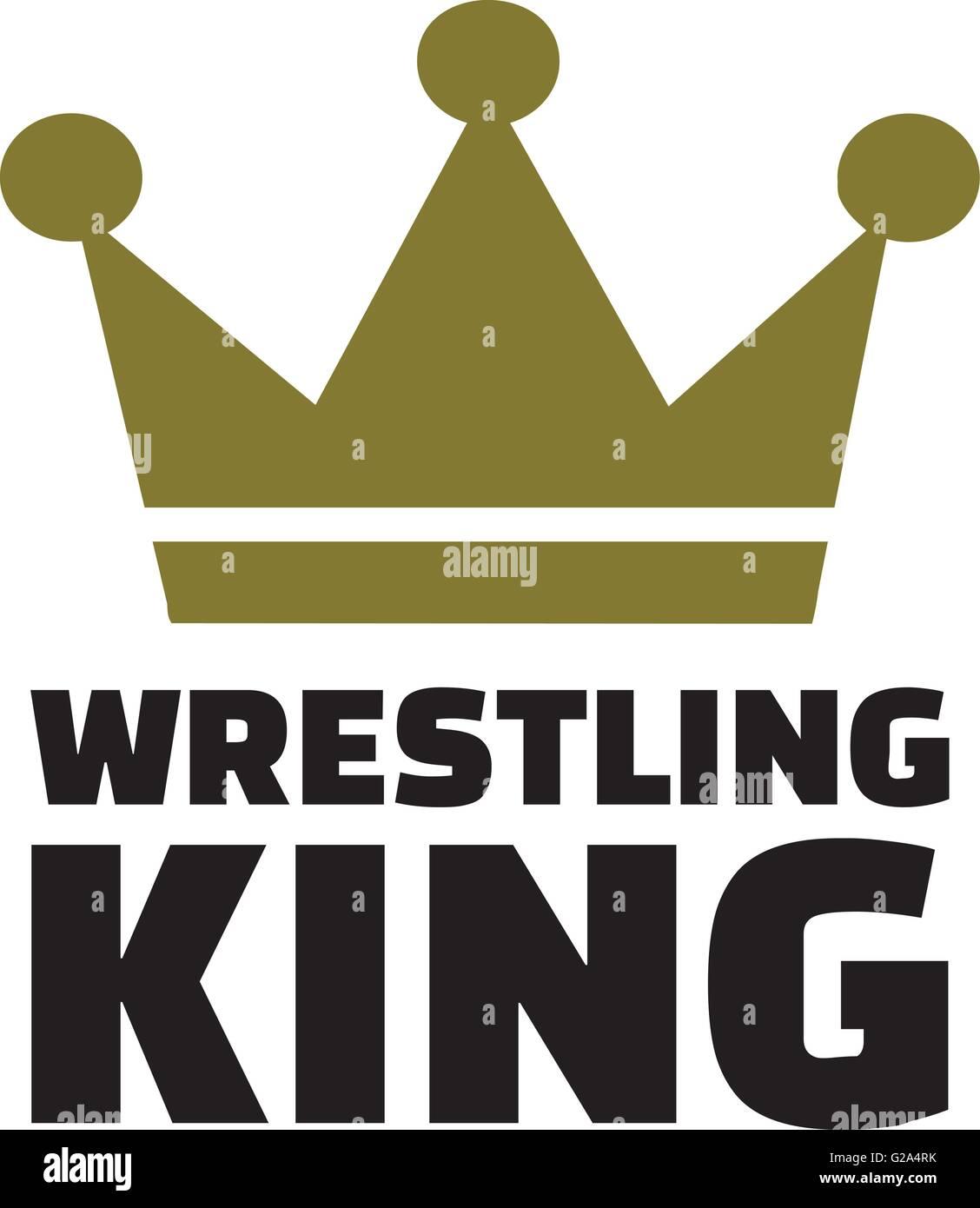 Wrestling king - Stock Image