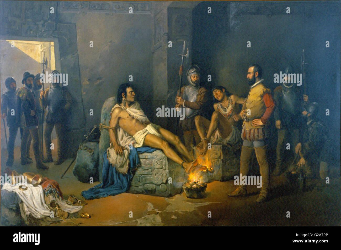 Leandro Izaguirre - The Torture of Cuauhtémoc -  Museo Nacional de Arte de Mexico - Stock Image