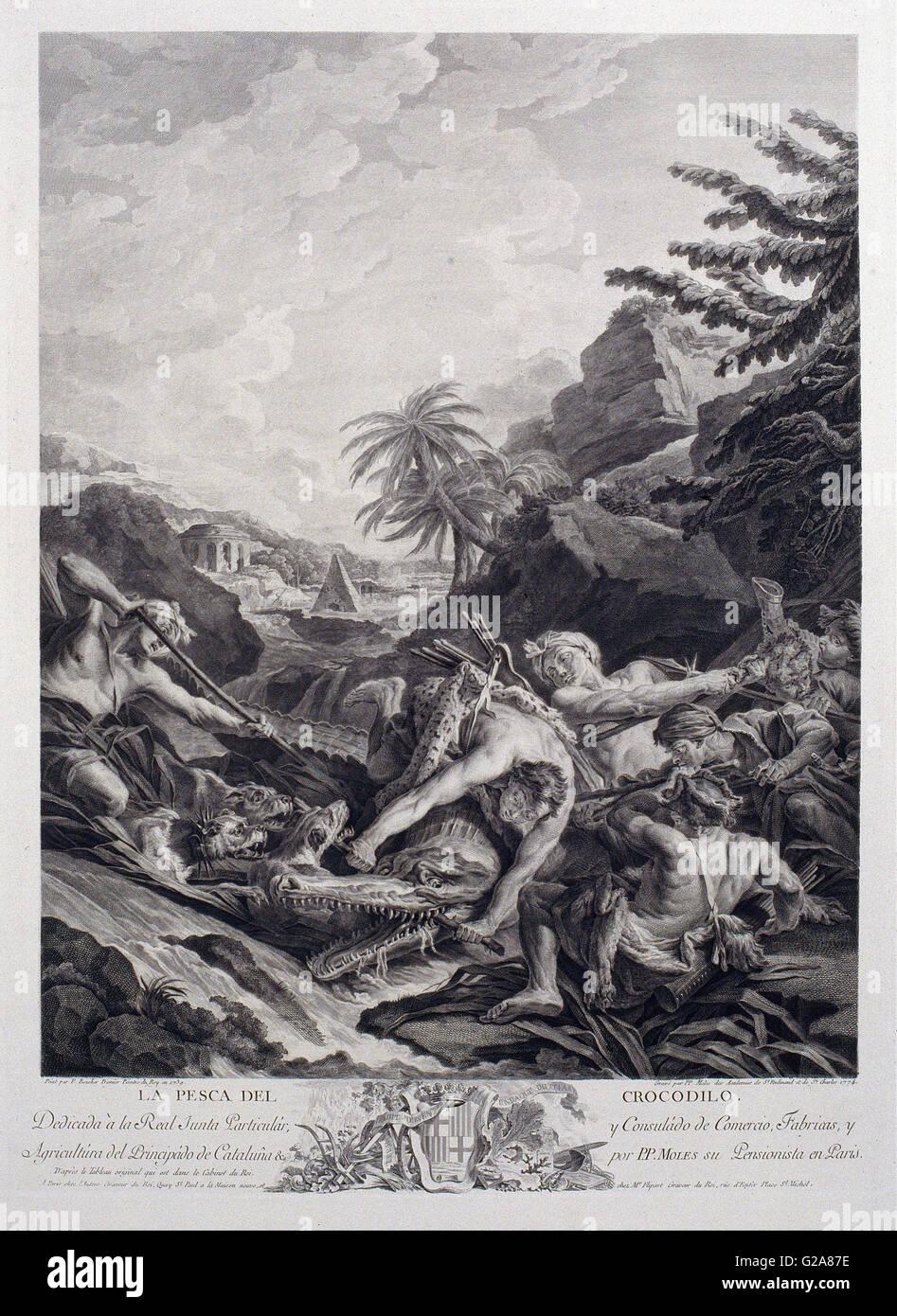 Pasqual Pere Moles Corones - Crocodile Hunting - Stock Image