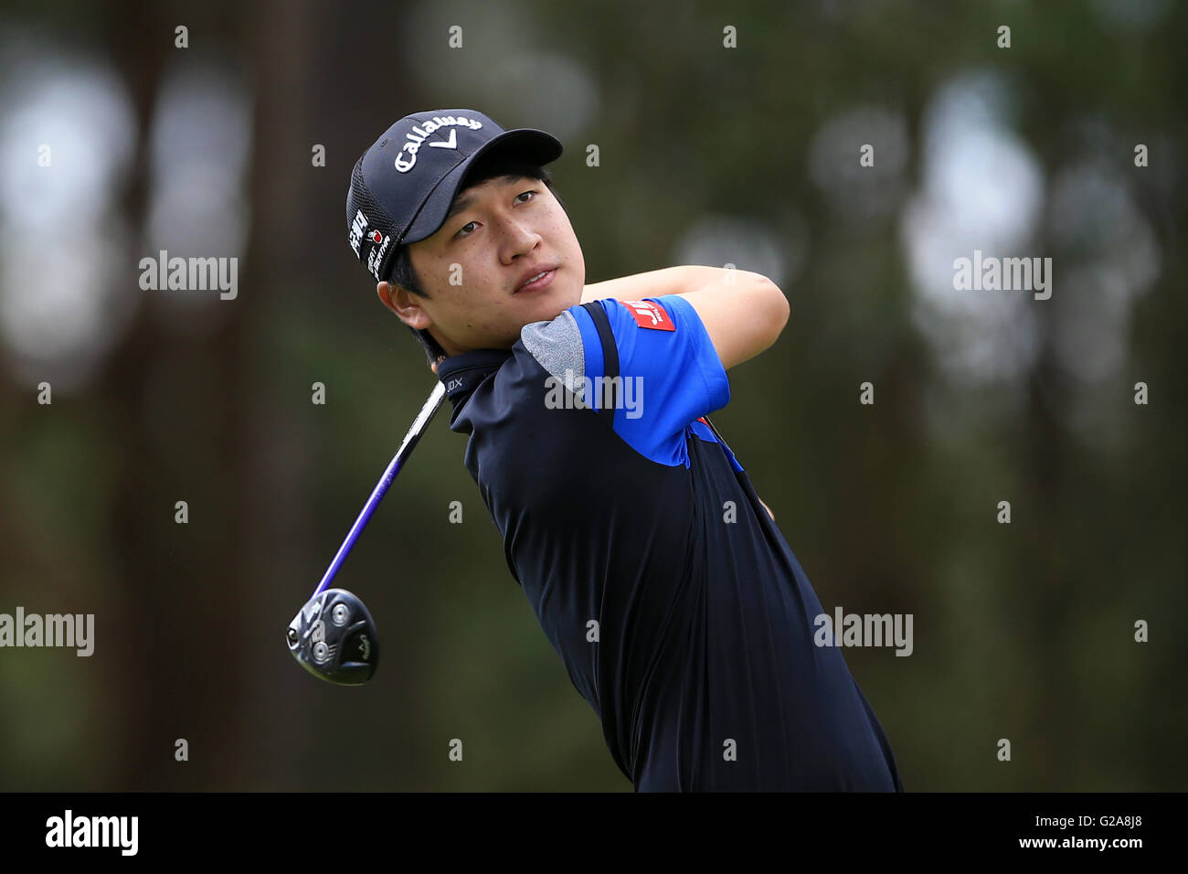 c0acdcb94d4c18 Jeunghun Wang during the first round of the BMW PGA Championship at ...