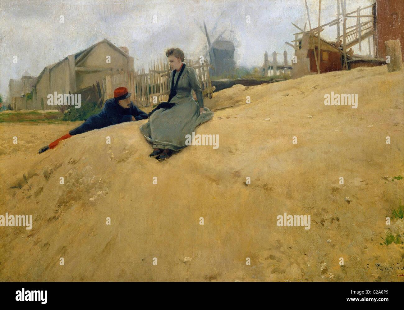 Santiago Rusiñol - On Campaign  - MNAC - Barcelona - Stock Image