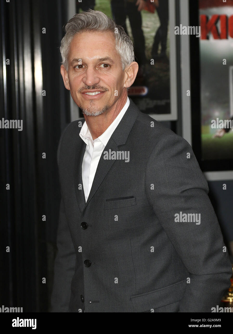 April 21, 2016 - Gary Lineker attending UK Premiere of Kicking Off, Prince Charles Cinema, Leicester Square in London, - Stock Image