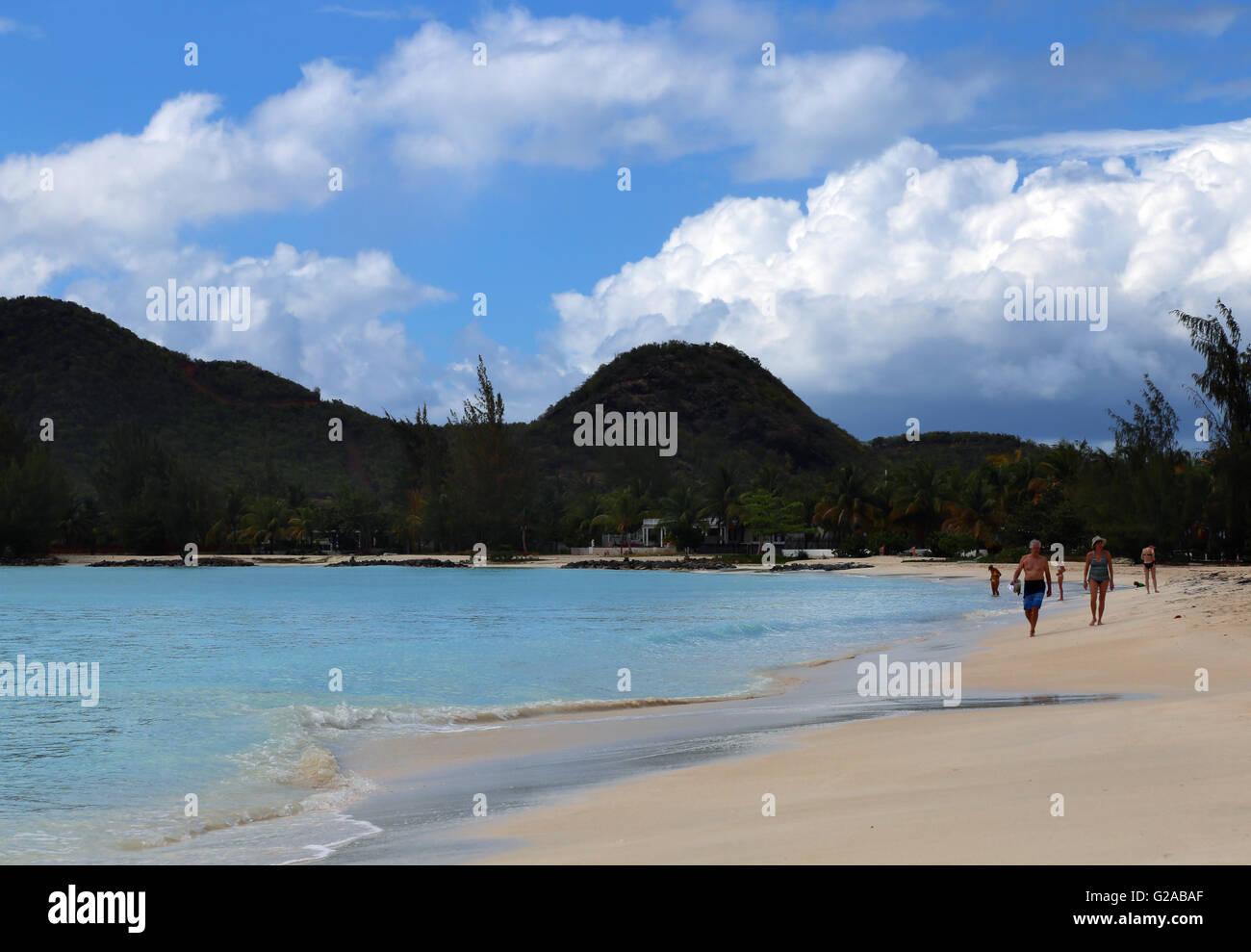 Jolly Bay beach, Antigua, Caribbean - Stock Image