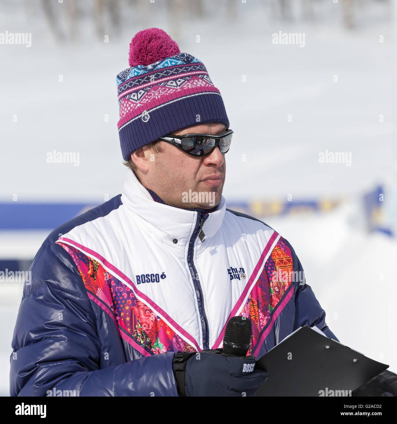 Guberniev Dmitry - Russian TV presenter, sports commentator. - Stock Image