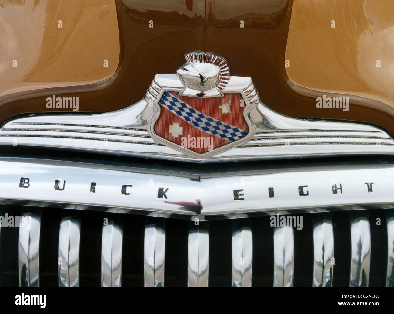 Bonnet badge for Buick - Stock Image