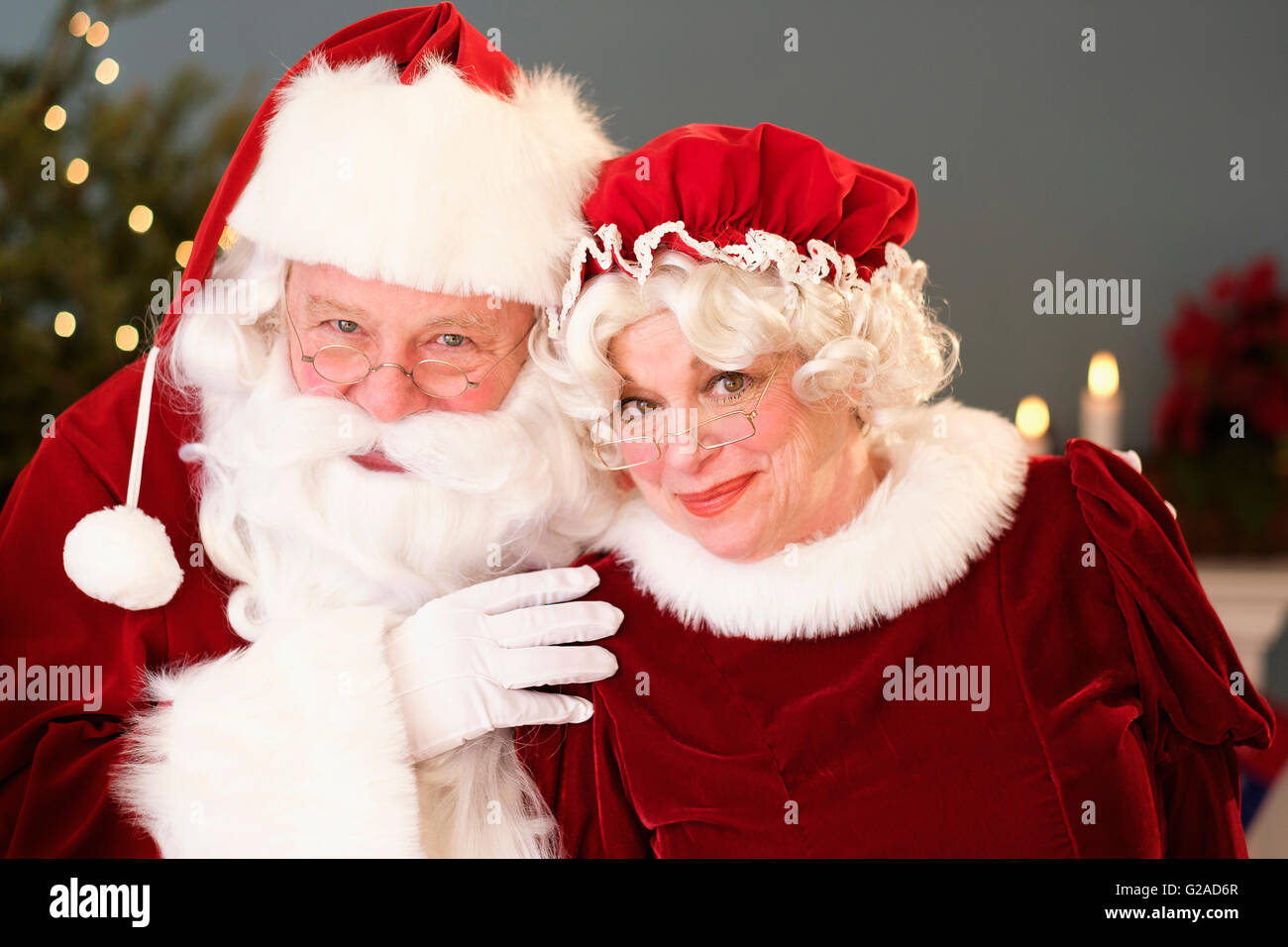 Portrait Of Santa And Mrs Claus