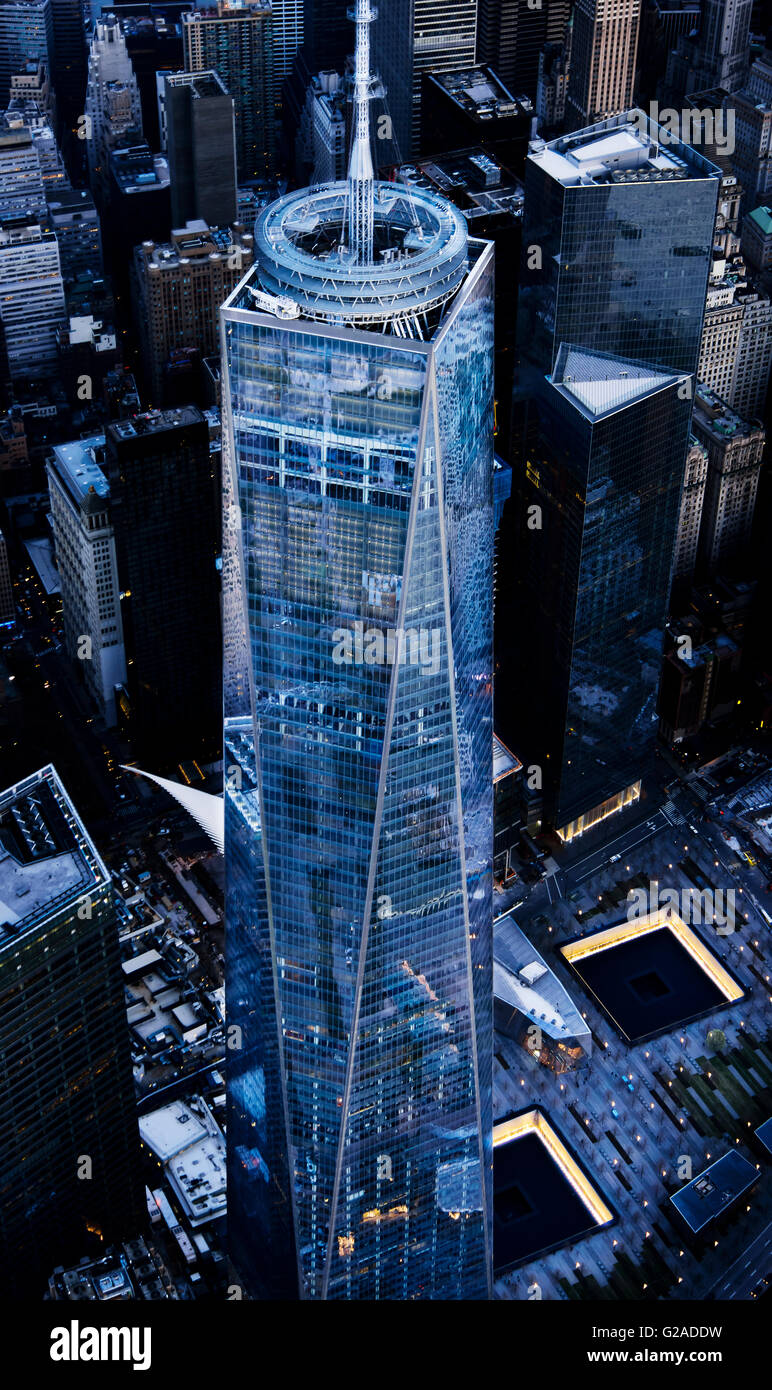 Aerial view of One World Trade Center - Stock Image
