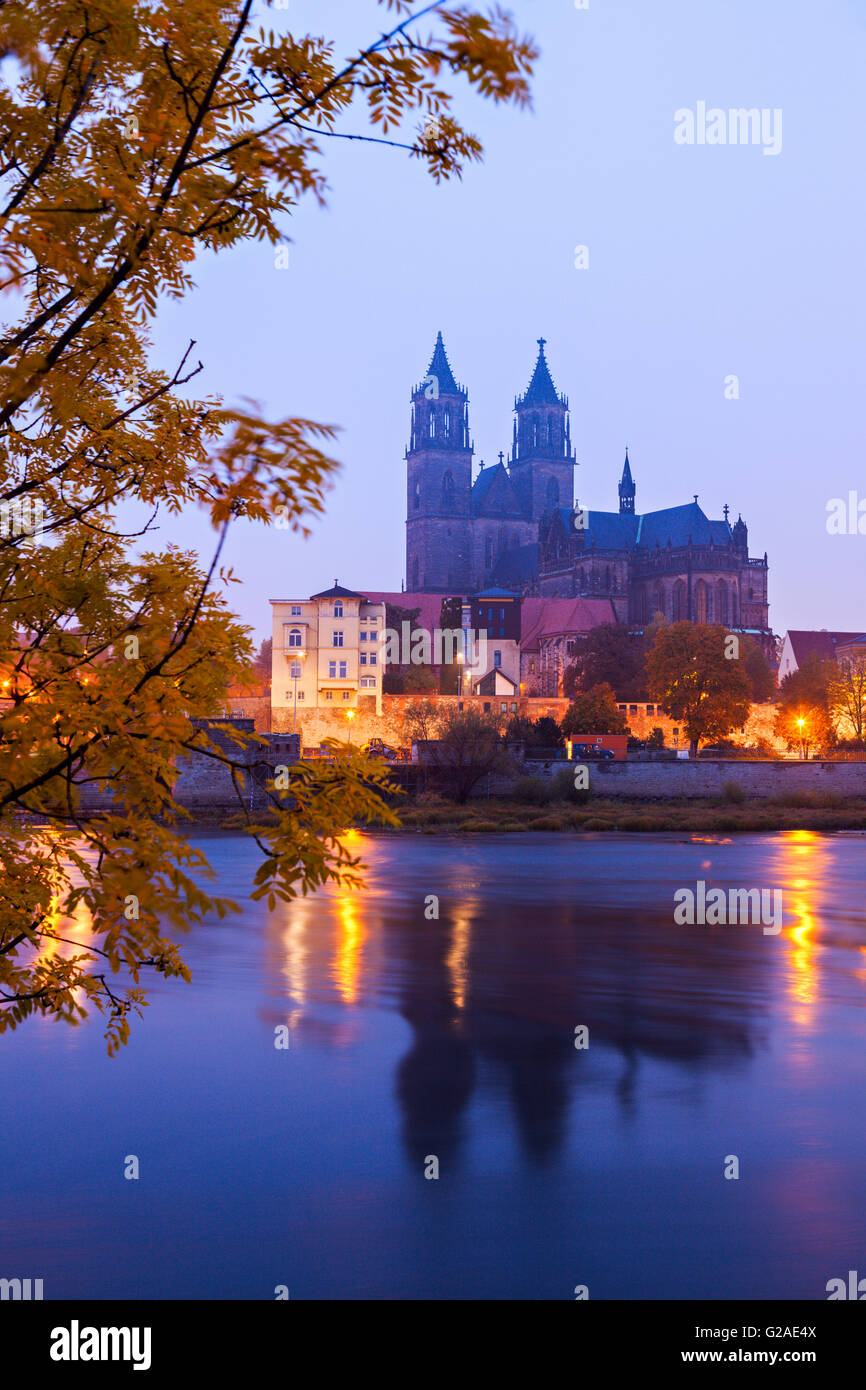 Magdeburg Cathedral Magdeburg, Lower Saxony, Germany - Stock Image