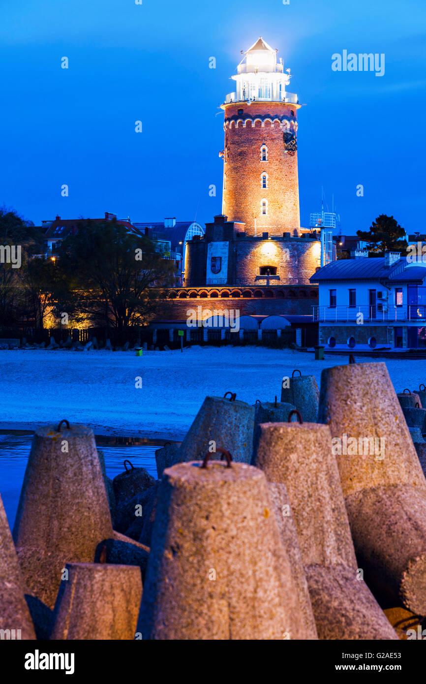Kolobrzeg Lighthouse Kolobrzeg, West Pomerania, Poland - Stock Image