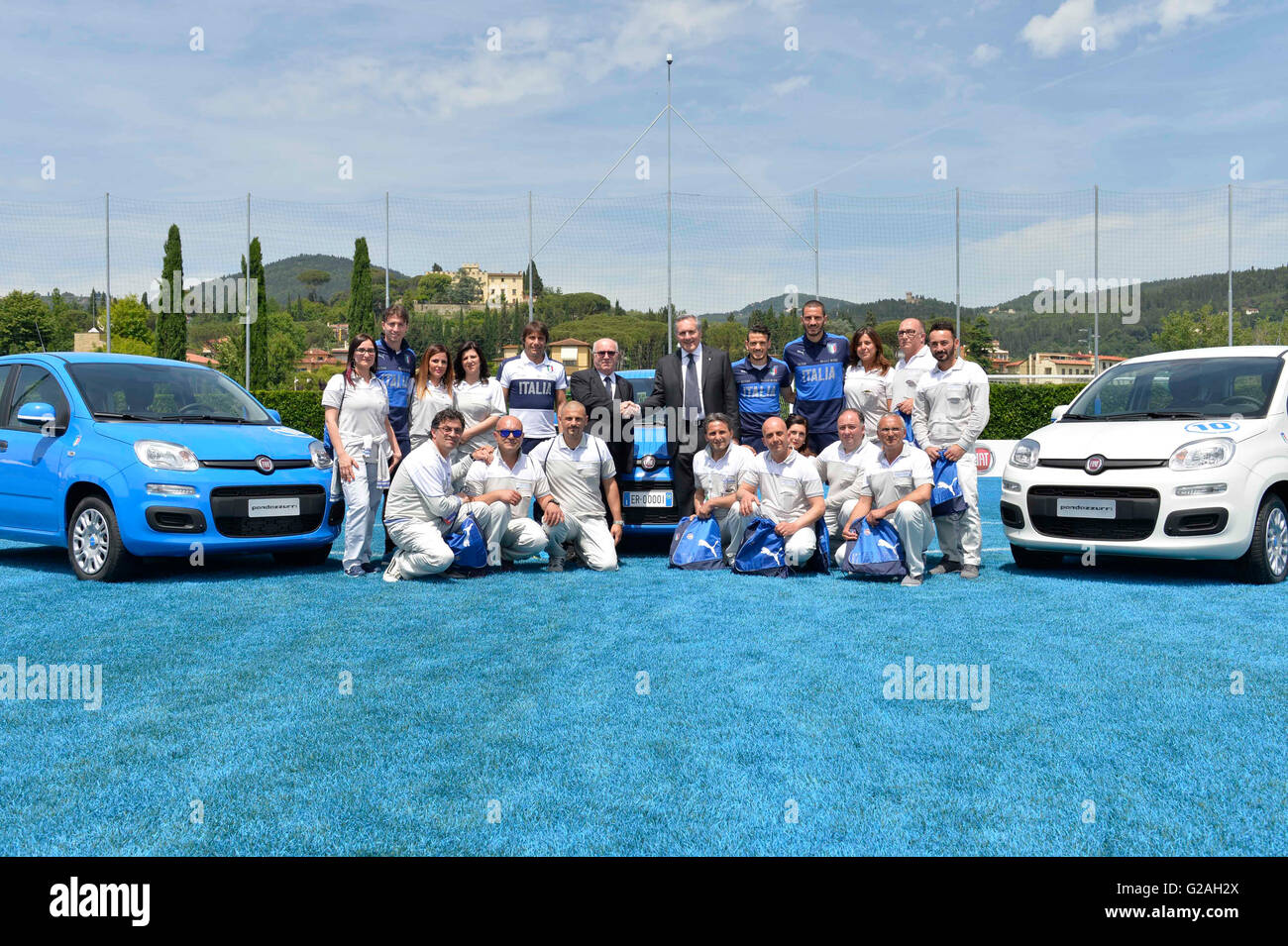 Fiat Chrysler Automobiles (FCA) and the Italian Football Federation (FIGC) presented on Thursday a limited edition Stock Photo