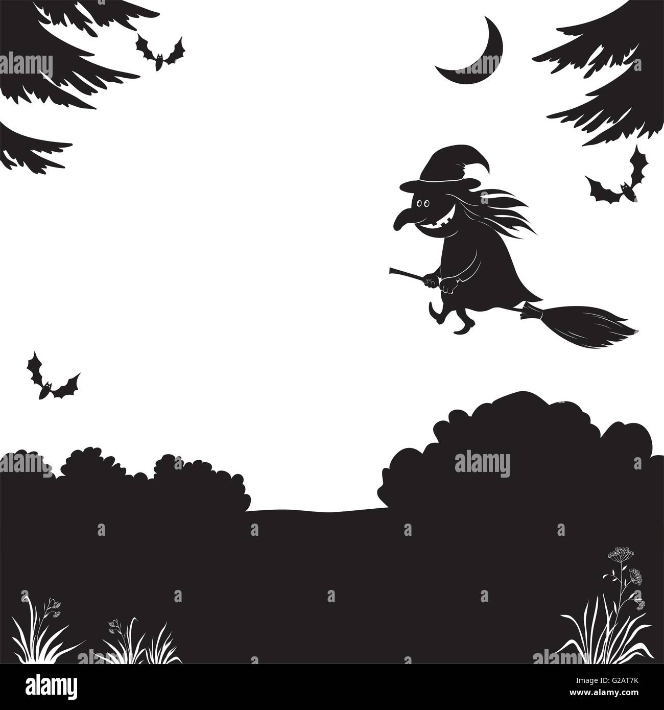 Witch Silhouette Stock Photos  U0026 Witch Silhouette Stock