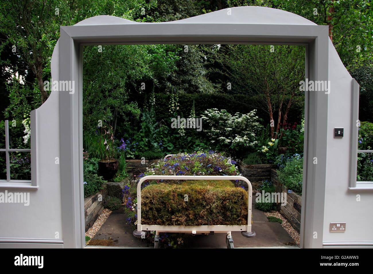 The Garden Bed, Artisan Garden, RHS Chelsea 2016 - Stock Image