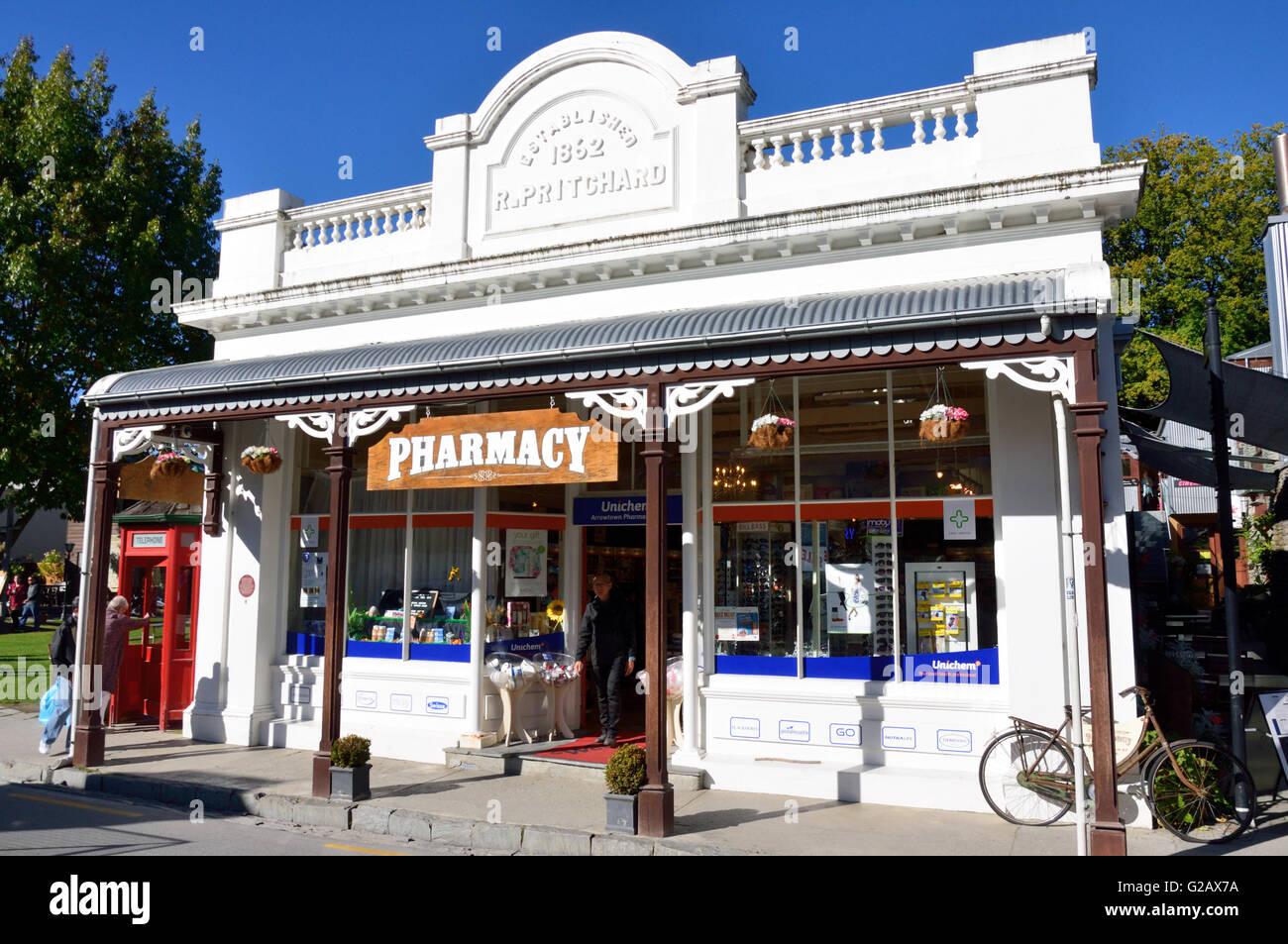 Arrowtown Pharmacy Stock Photo