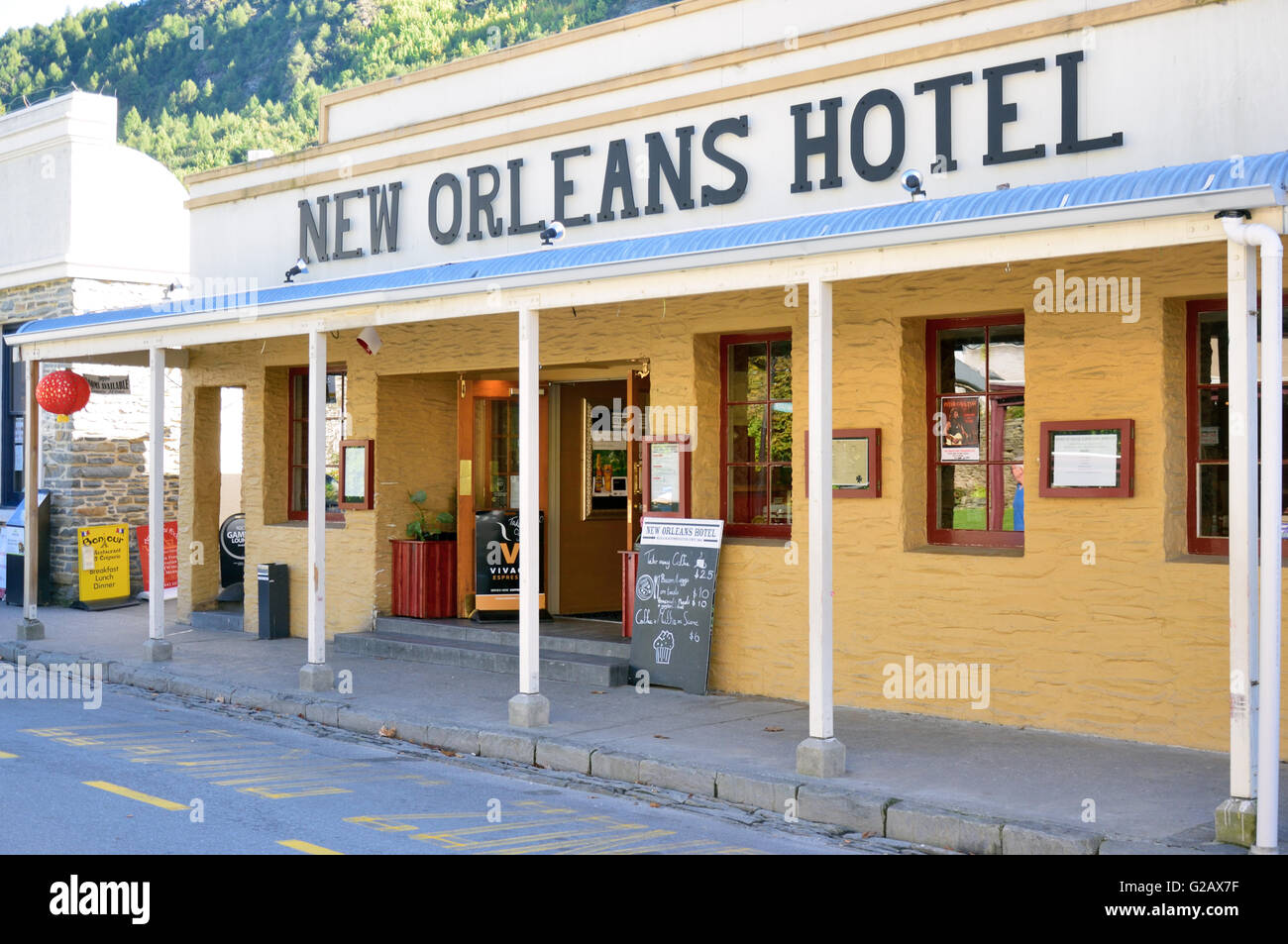 New Orleans Hotel, Arrowtown Stock Photo