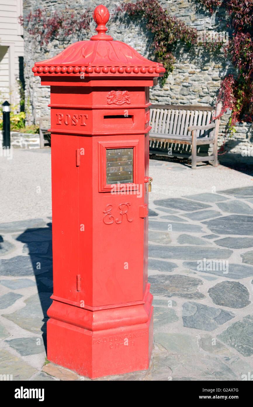 Post Box, Arrowtown Stock Photo