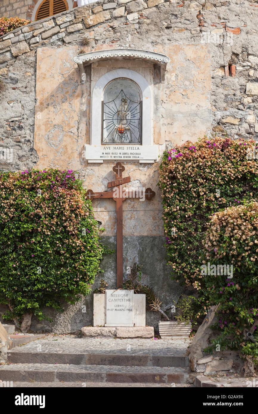 Parish church of San Giovanni Battista in Cervo - Stock Image