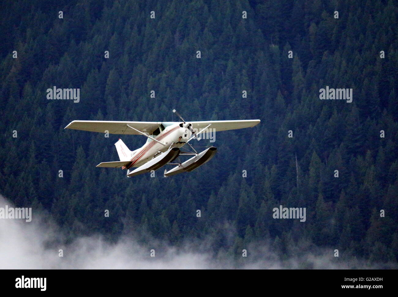 Flying Practice 12 - Cessna Aircraft - Stock Image