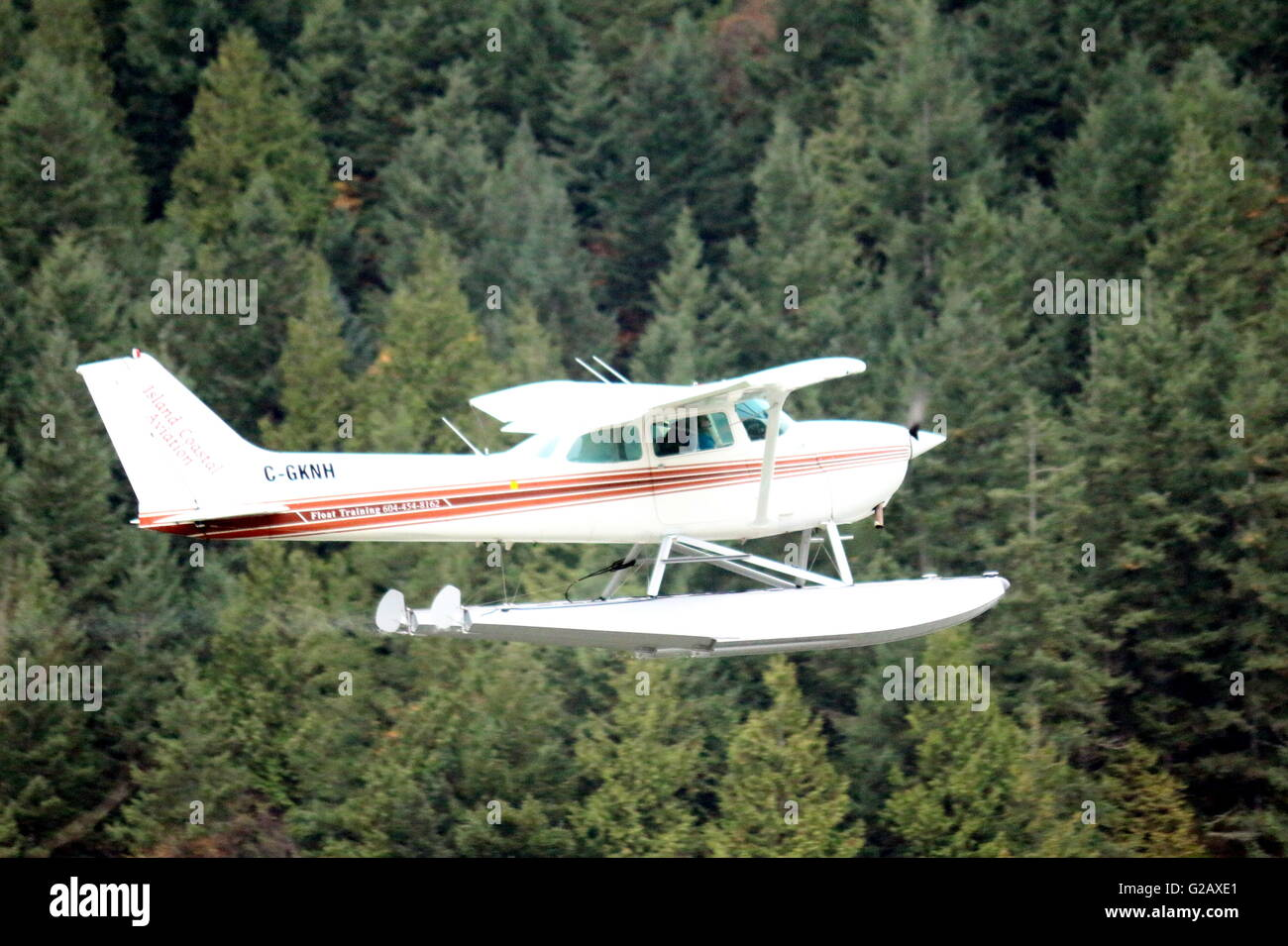 Flying Practice 5 - Cessna Aircraft - Stock Image