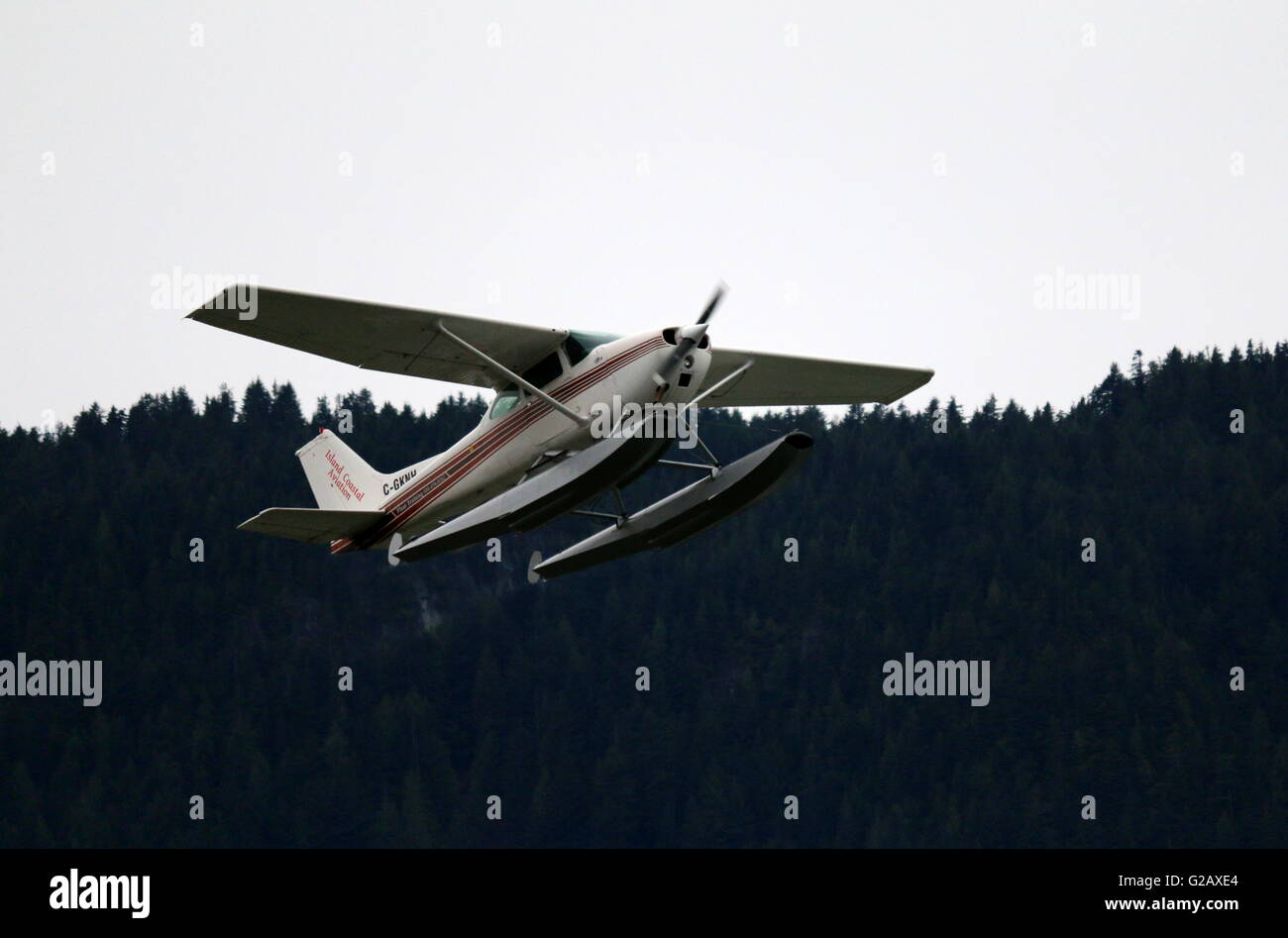 Flying Practice 2 - Cessna Aircraft - Stock Image