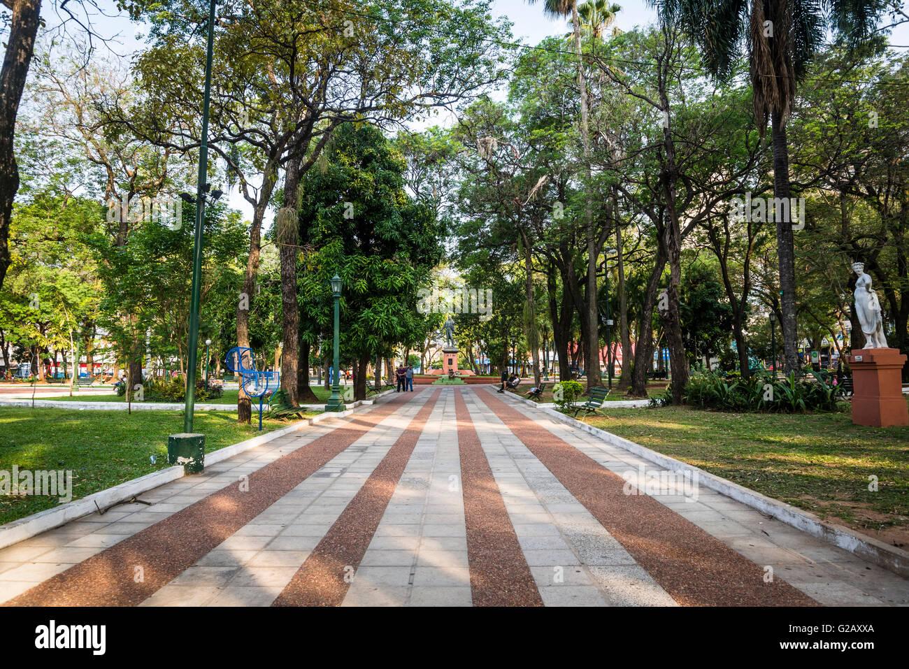 Uruguay square, Asunción, Paraguay - Stock Image