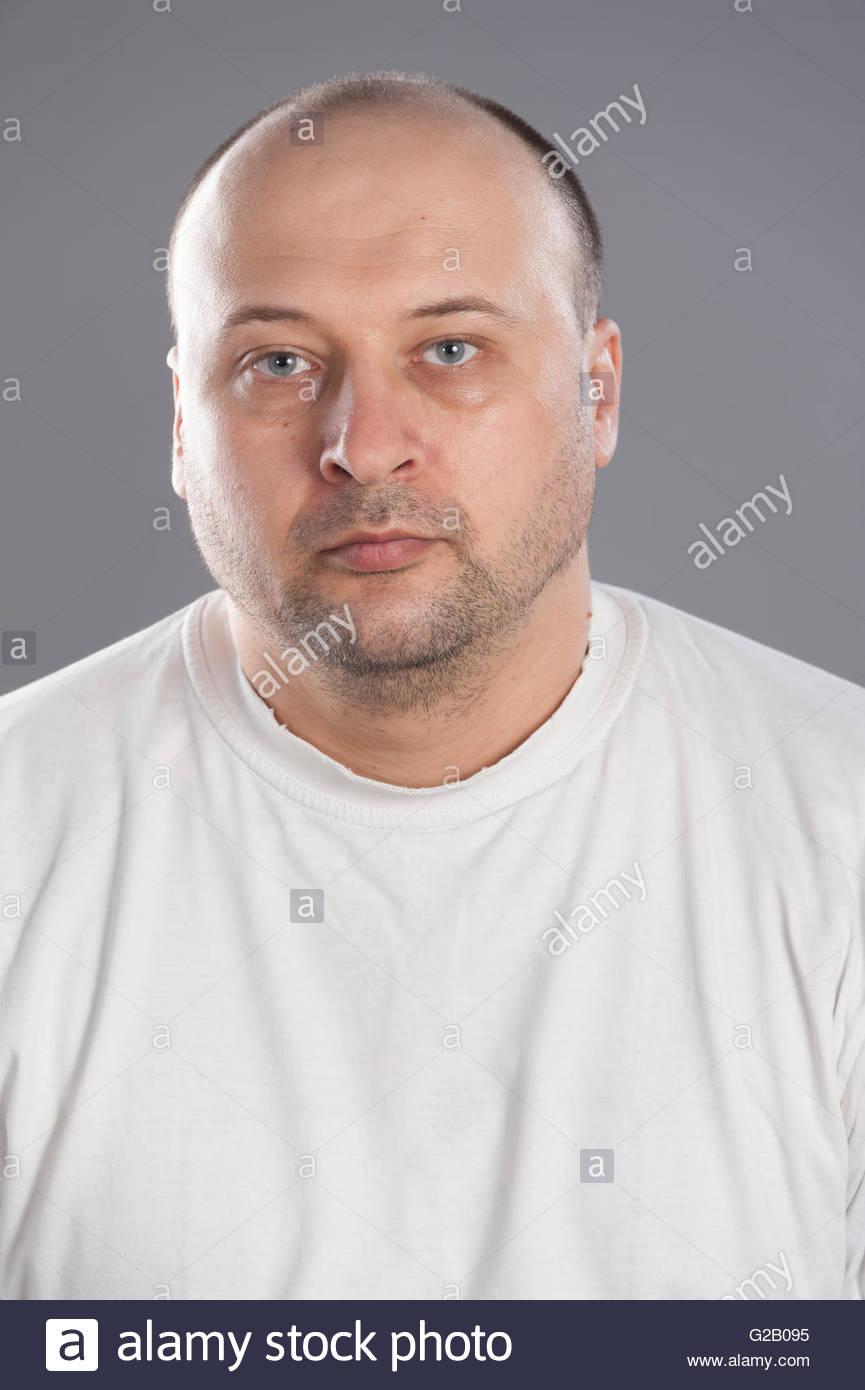 fat bald man stock photos & fat bald man stock images - alamy