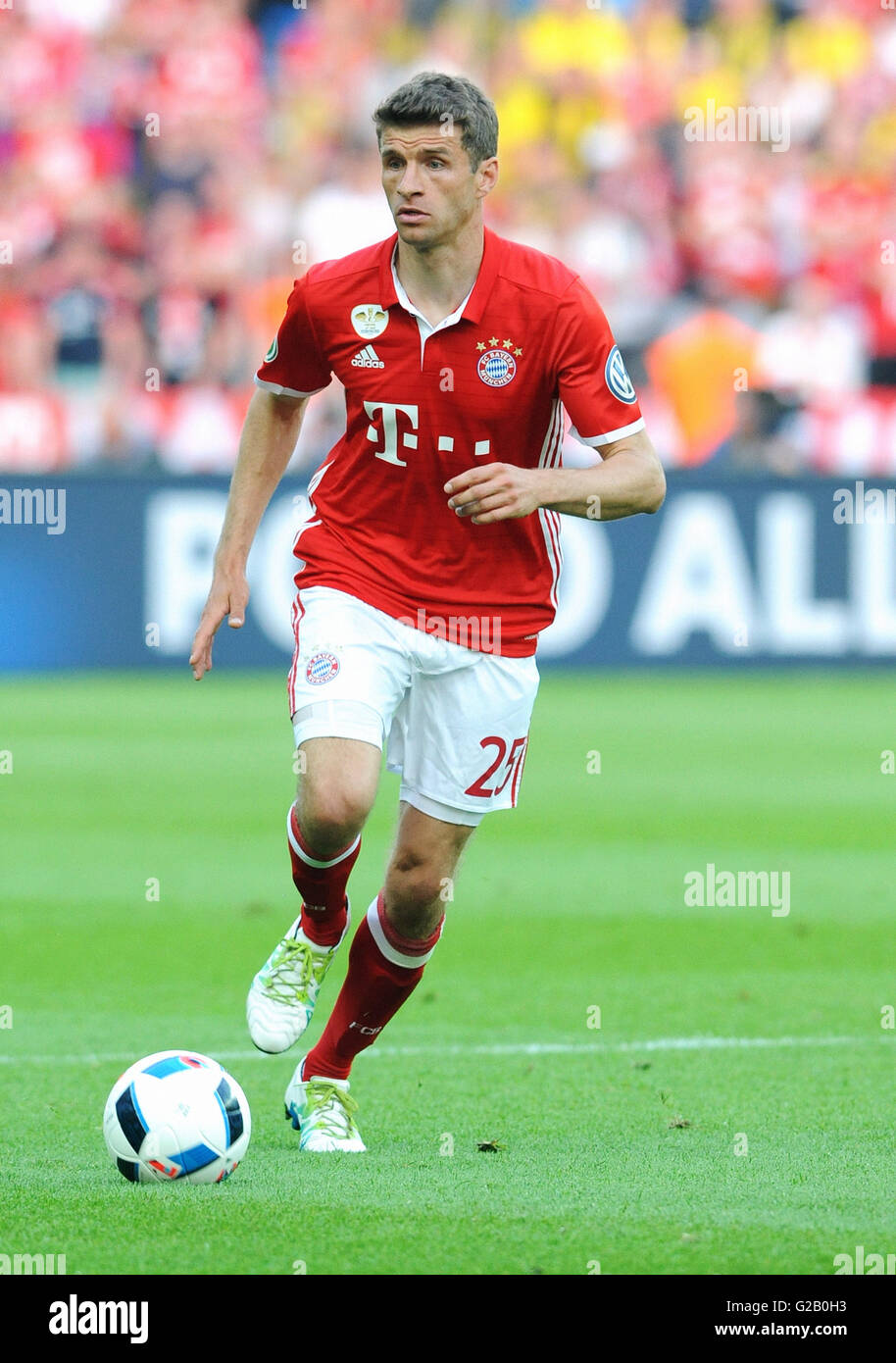German Cup Final at Olympic Stadium Berlin, FC Bayern Munich vs Borussia Dortmund: Thomas Mueller of Munich. - Stock Image