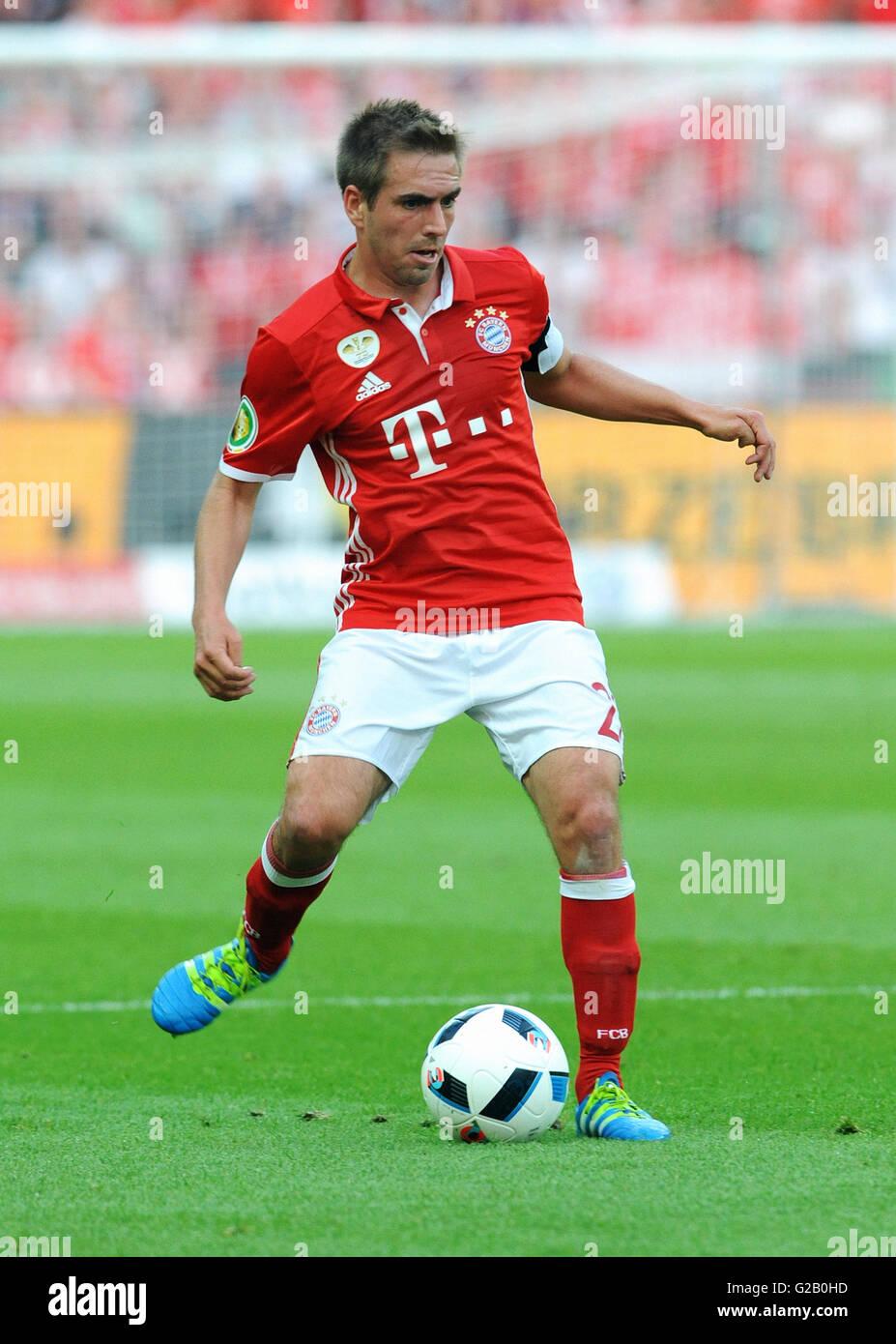 German Cup Final at Olympic Stadium Berlin, FC Bayern Munich vs Borussia Dortmund: Philipp Lahm of Munich. - Stock Image