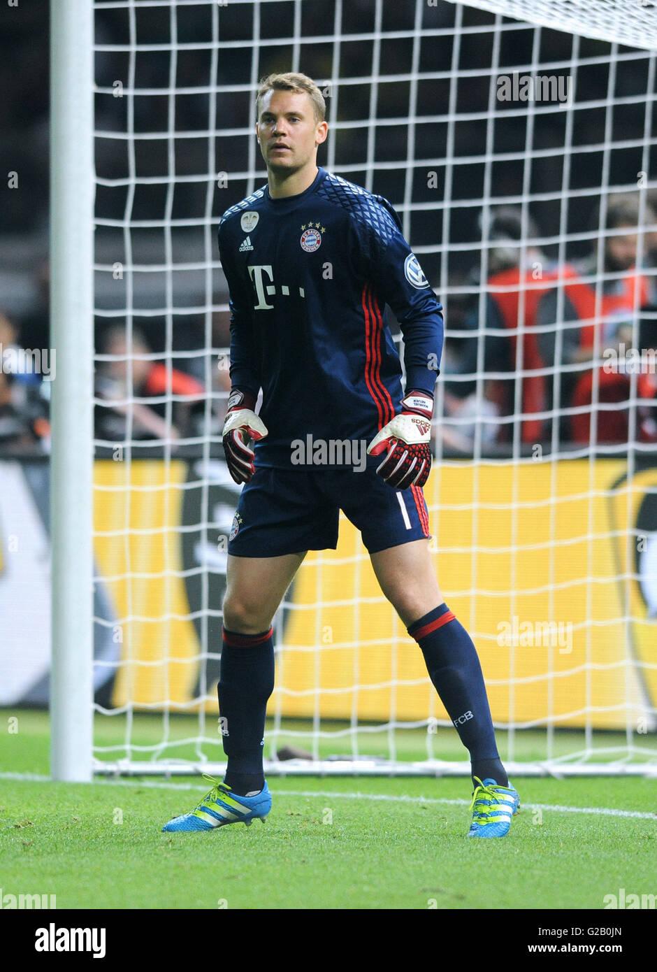 German Cup Final at Olympic Stadium Berlin, FC Bayern Munich vs Borussia Dortmund: Manuel Neuer of Munich. - Stock Image