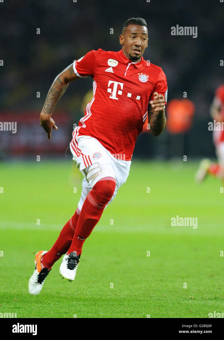 German Cup Final at Olympic Stadium Berlin, FC Bayern Munich vs Borussia Dortmund: Jerome Boateng of Munich. - Stock Image