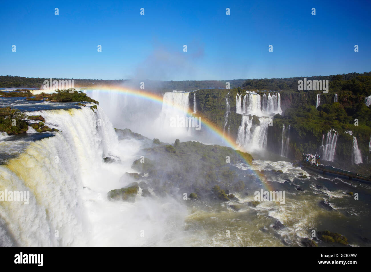 Garganta do Diablo (Devil's Throat) Falls at Iguacu Falls, Iguacu National Park, Parana, Brazil - Stock Image