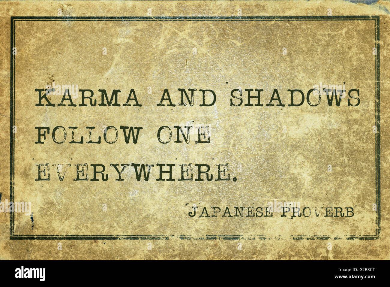 Karma And Shadows Follow One Everywhere Ancient Japanese Proverb