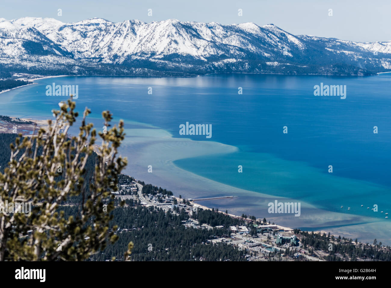Heavenly ski resort at Lake Tahoe - Stock Image