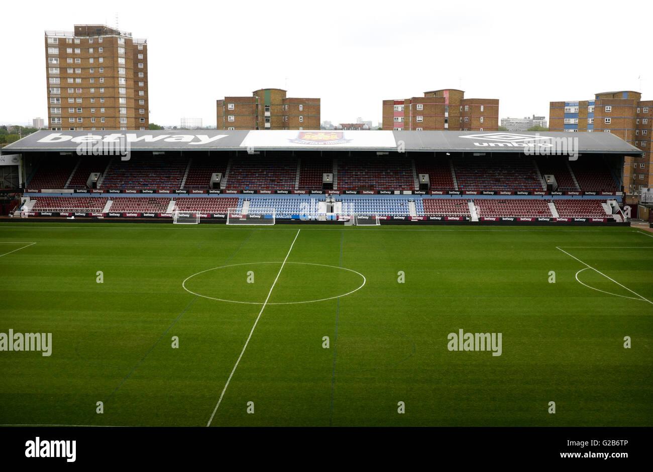 The East Stand, The Boleyn Ground, Upton Park, West Ham, London - Stock Image