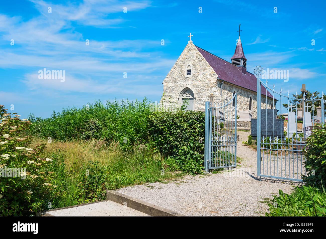 St. Martin Church, Tardinghen, Côte d'Opale, Region Nord-Pas de Calais, France - Stock Image