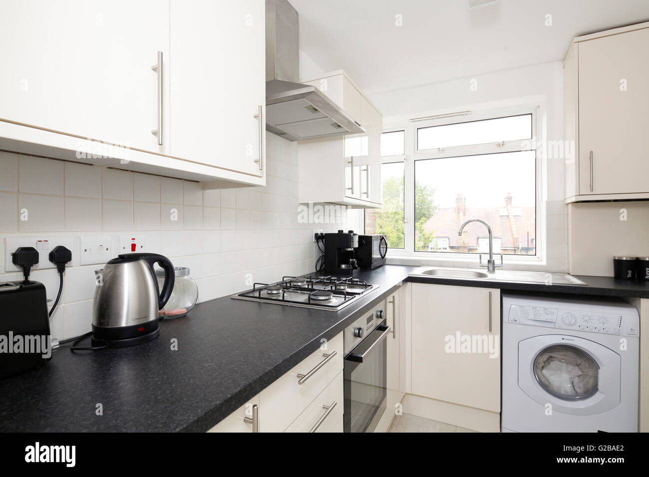 Ellington Court, Southgate. Clean modern kitchen with stainless ...