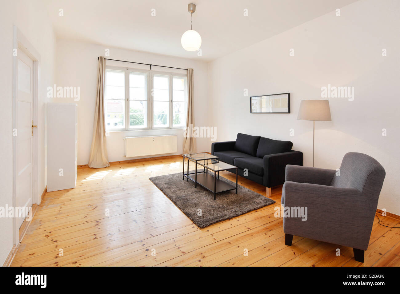 Wisbyer Strasse 59. Modern living with minimal furnishing and wood ...